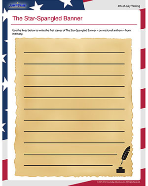 Worksheets Star Spangled Banner Worksheet star spangled banner free fourth of july worksheets for kids banner