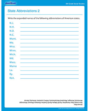 Worksheets Social Studies Worksheets 7th Grade state abbreviations 2 free printable social studies worksheet for fifth grade
