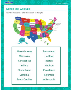 Printables Geography Worksheets states and capitals free printable geography worksheet for 3rd kids
