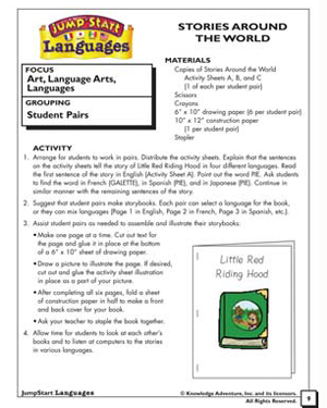 Stories Around the World - Free Reading Worksheet for Kindergarten