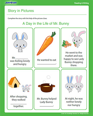 math worksheet : story in pictures  free 1st grade reading  writing worksheet  : Story Worksheets For Kindergarten