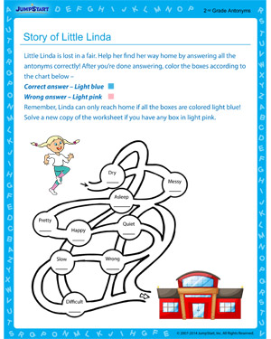 Story of Little Linda - Free educational printable for 2nd grade kids