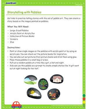 Storytelling with Pebbles - Free Cinco de Mayo activity for Kids