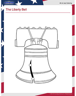 The Liberty Bell Free Independence Day Coloring Page for Kids