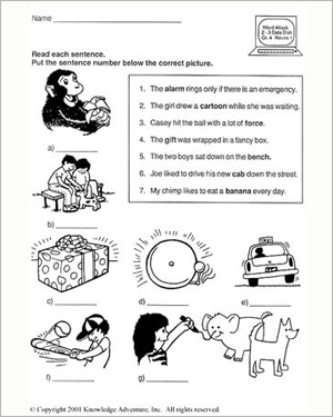 The Cave Kids: Picture That - English Vocabulary Worksheet for Grade 3
