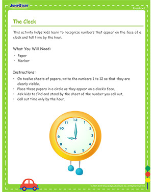 The Clock - Free Cinco de Mayo activity for Kids
