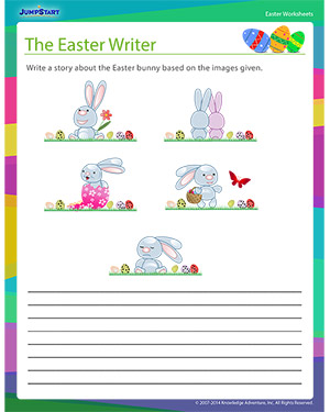 Did you see 'The Easter Writer?'- Free Easter Worksheet for Kids
