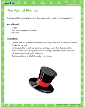 The Hat that Rhymes - Fun Rhyming Activity for Kids
