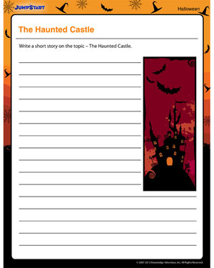 The Haunted Castle - Free Halloween Printable for Kids