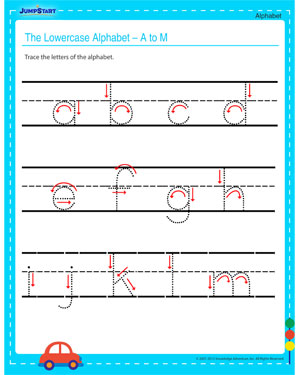 The Lowercase Alphabet - N to Z – Free Online Alphabet Worksheet for your Child