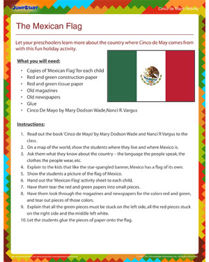 The Mexican Flag - Free Cinco de Mayo activity for Kids