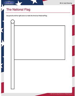 The National Flag - Social Studies Worksheets for Kindergarten