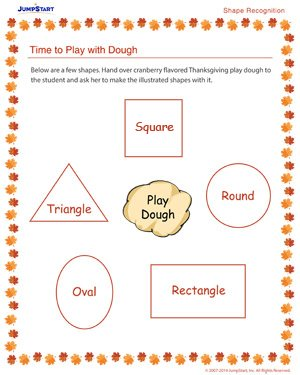 Time to Play with Dough - Free Thanksgiving Worksheet
