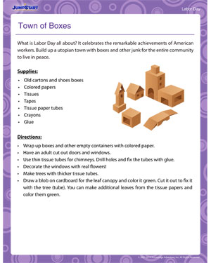 Town of Boxes - Labor Day activity for kids