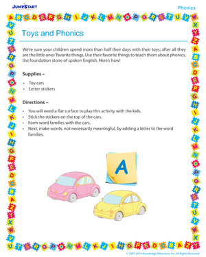 Toys and Phonics - Phonics activity for kids