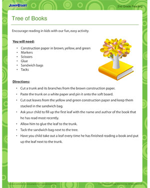 Tree of Books - Printable 2nd grade activity