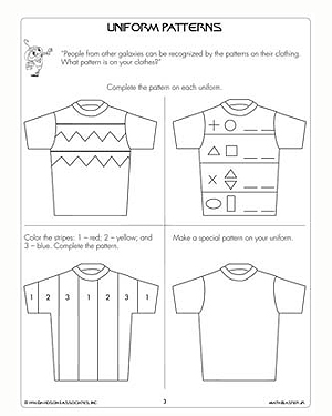 Uniform Patterns – Free & Printable Math Worksheets for 1st Grade ...