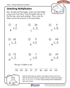 math worksheet : unlocking multiplication  multiplication problems and worksheets  : Multiplication Worksheets For Kids