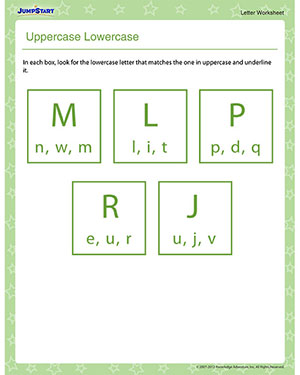 Uppercase Lowercase - Free Letters Worksheet for Preschool