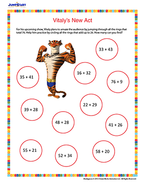 vitalys new act  printable math worksheet for nd grade  jumpstart vitalys new act  printable math worksheet for nd grade
