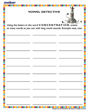 vowel detective 1st grade madagascar reading worksheet jumpstart. Black Bedroom Furniture Sets. Home Design Ideas