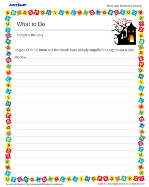 What to Do! - Sentence writing worksheet for kids