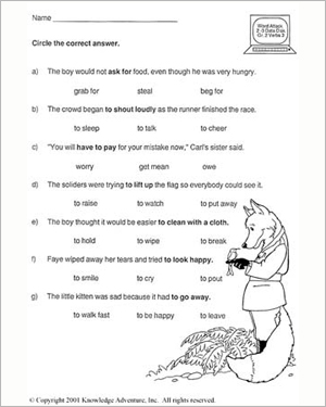 Printables Vocabulary In Grade 2 whats the good verb vi free vocabulary review worksheet for vi