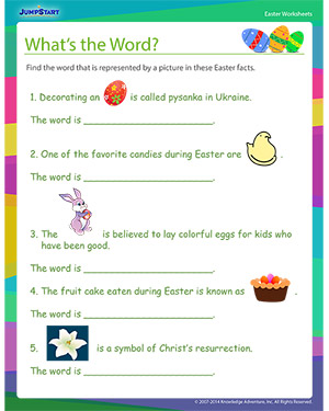 Did you see 'What's the Word??'- Free Easter Worksheet for Kids