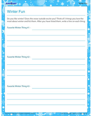Winter Fun - Free Winter Worksheet for Kids