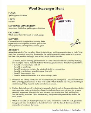 Word Scavenger Hunt - Free English Worksheet for Kids