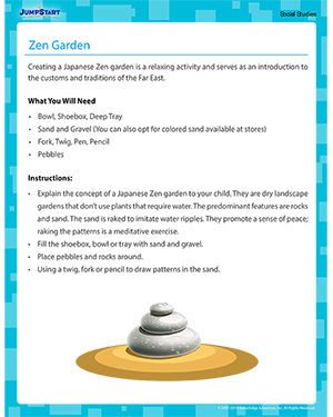 Zen Garden - Social Studies activity for kids