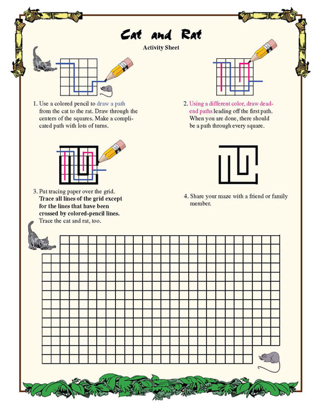 Printables Geometry Fun Worksheets your math teacher123 cat and rat fun geometry worksheet for third grade blaster