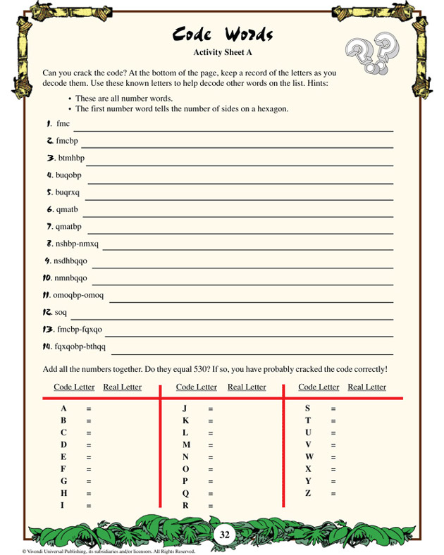 Cracking the Code Worksheet http://o62.benzarini.one.pl/p7M