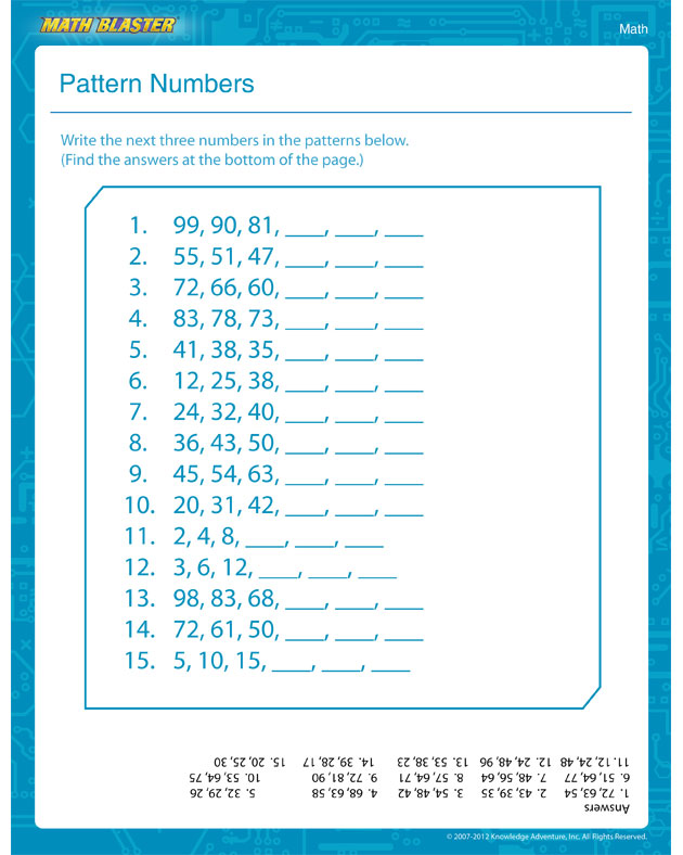Grade 6 Math Patterning Worksheets pictures on math number – Grade 5 Math Patterns Worksheets