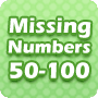 Missing Numbers 50-100 – 1st Grade Math Worksheet - Math Blaster