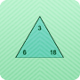 Number Triangles - Online Multiplication and Division Worksheet for Kids