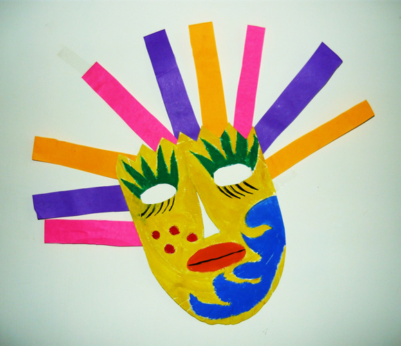 Mexican Mask Cinco de Mayo Crafts for Kids JumpStart