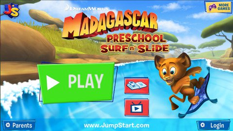 Madagascar Preschool Surf n' Slide