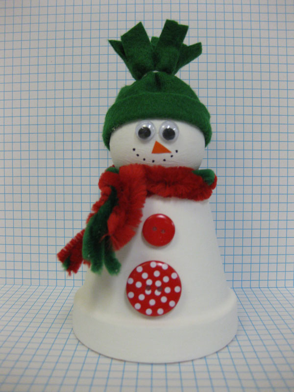 Completed With Style You Re Done The Flower Pot Snowman