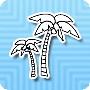 Coconut Tree - Tropical Fruit Tree Coloring Page