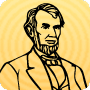 Color Abraham Lincoln - coloring page for kindergarten kids