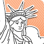 Color the Statue of Liberty - Fourth of July Printable Coloring Page for Kids