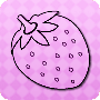 Pink Strawberries - dot-to-dot worksheet