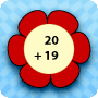 Summer Flowers - Double Digit Addition and Subtraction - Free Worksheet for Kids