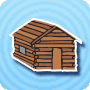 Sweet Log Cabin on President's Day - Free President's Day activity