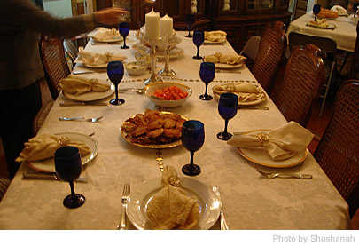 Hanukkah table settings