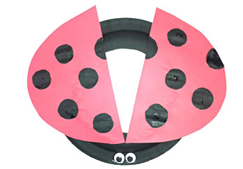 Lady Bug Paper Plate Hat