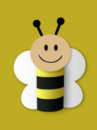Toilet Paper Roll Bee - Spring Craft for Kids