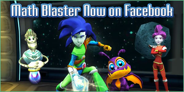 Math Blaster Now on Facebook