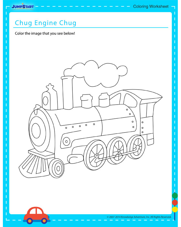 Chug, Engine, Chug - Free coloring page for kids on vehicles